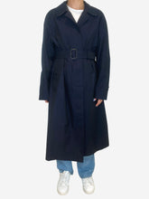 Load image into Gallery viewer, Navy Burberry Coats, 4