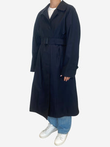 Burberry Navy Burberry Coats, 4