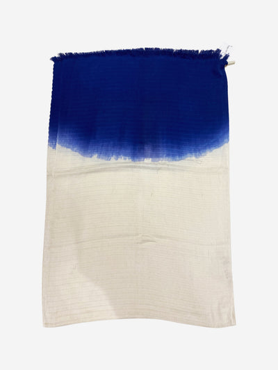 Blue & white gradient scarf