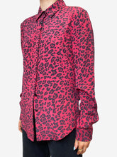 Load image into Gallery viewer, Red & black leopard print blouse - size S