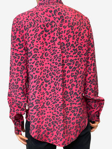 Donna Ida Red & black leopard print blouse - size S