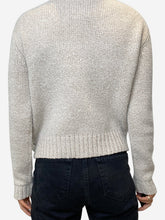 Load image into Gallery viewer, Beige wool sweater with button neckline - size M