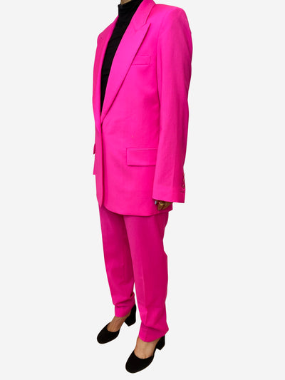 Neon pink wool suit - size IT 46