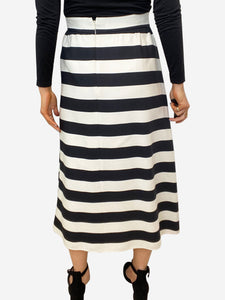 Valentino Black & white striped midi skirt - size IT 44