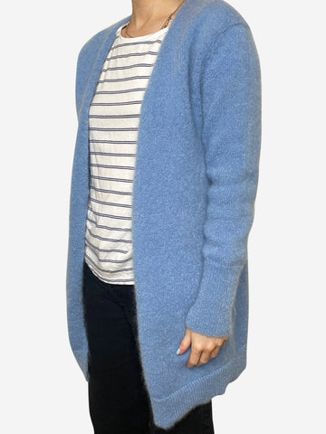 Blue open mohair cardigan - size S