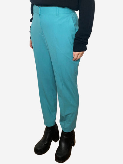 Teal tailored trousers - size UK 12