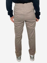 Load image into Gallery viewer, Taupe slim joggers - size UK 8