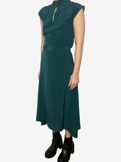 Green midi dress - size UK 8