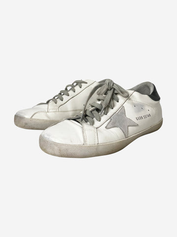 Superstar white & grey low-top trainers - size EU 40