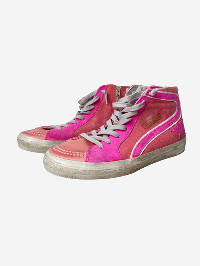 Slide pink high-top trainers - size EU 40