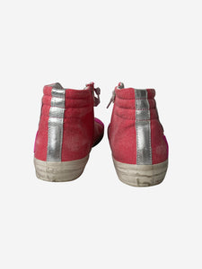 Golden Goose Slide pink high-top trainers - size EU 40