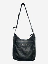 Load image into Gallery viewer, Dark grey/green motorcycle large crossbody bag