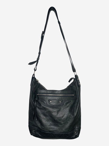 Dark grey/green motorcycle large crossbody bag