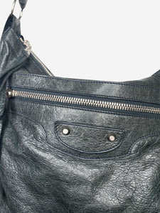 Balenciaga Dark grey/green motorcycle large crossbody bag