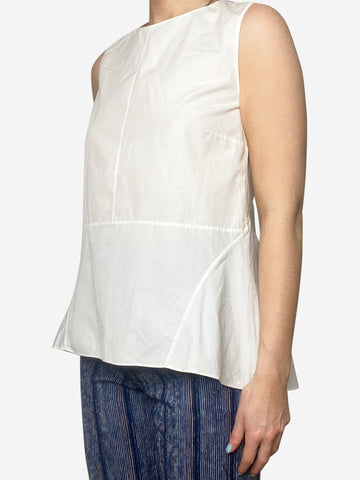 White sleeveless peplum top - size IT 42