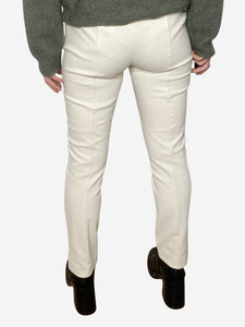 The Row Cream straight leg trousers with front seam - size S