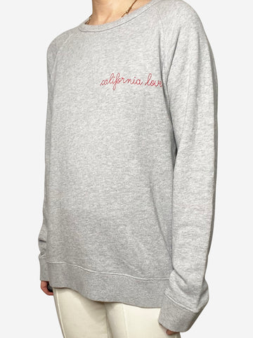 "Grey ""California Love"" cotton sweatshirt - size M"