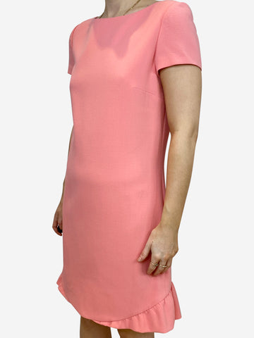Pink ruffle shift dress - size IT 42