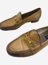 Load image into Gallery viewer, Tan horsebit loafers - size EU 39