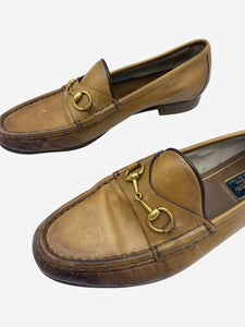 Gucci Tan horsebit loafers - size EU 39