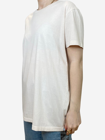 Nude crew neck t-shirt - size L