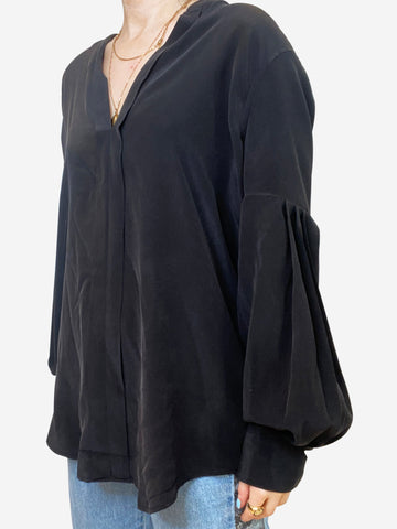 Charcoal long sleeve blouse - size M