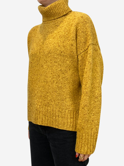 Mustard roll neck sweater - size S