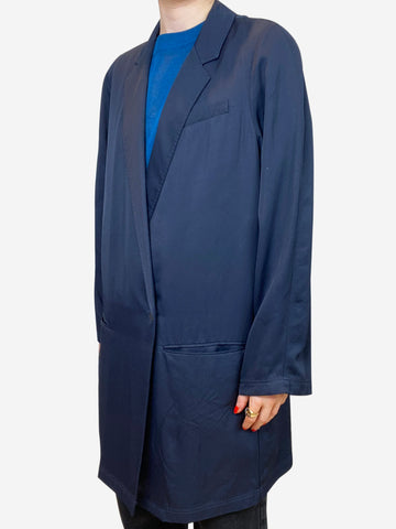 Navy long oversized blazer - size XS