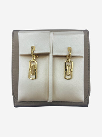 Parentesi 18kt gold drop earrings