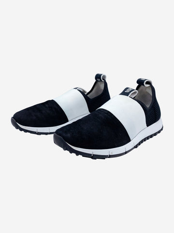 Black and white elastic trainers - size EU 40