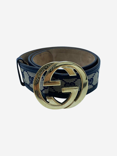 GG Supreme monogram & navy belt