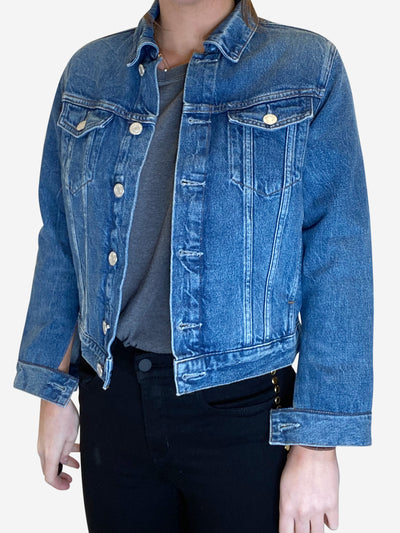 Blue denim cropped jacket - size XS