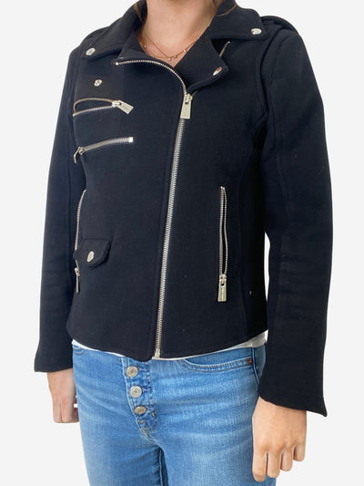 Black biker jacket - size S