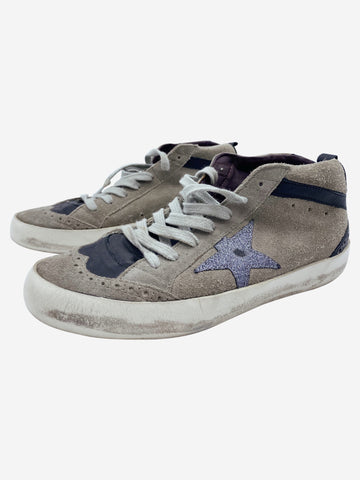 Grey & Black Golden Goose Shoes, 4