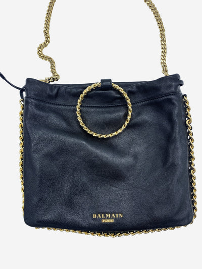 Black and gold bracelet chain crossbody bag