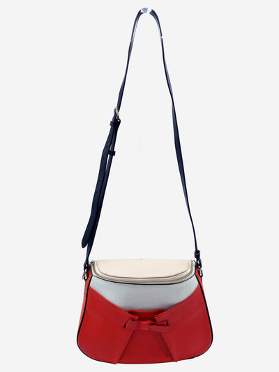 Black, red, white and pink cross body bag