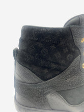 Load image into Gallery viewer, Black monogram Millenium wedge trainers - size EU 38.5