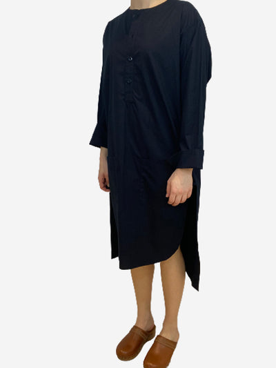 Black long sleeve shift dress- size UK 10