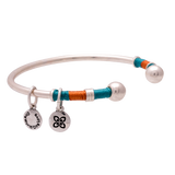 GIPSY BANGLE dark teal/ orange