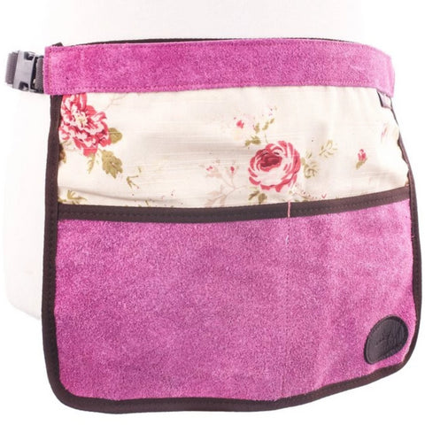 Bradleys Floral Half Leather Apron Pink