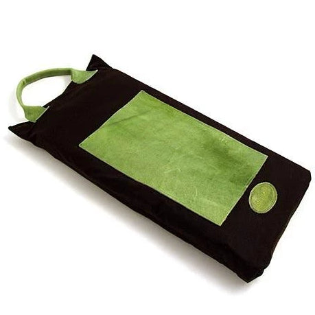 Bradleys Heritage Waxed Cotton and Leather Garden Kneeler Green