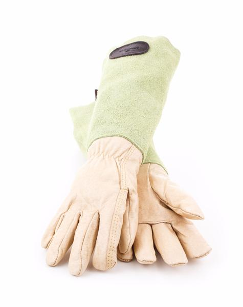 Bradleys Suede & Leather Gardening Gloves Green