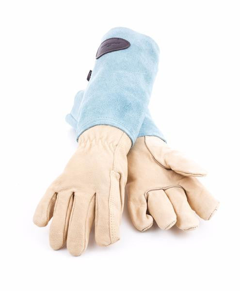 Bradleys Suede & Leather Gardening Gloves Blue