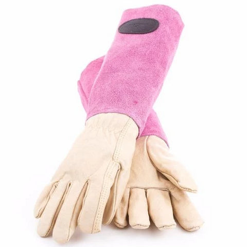 Bradleys Suede & Leather Gardening Gloves Pink