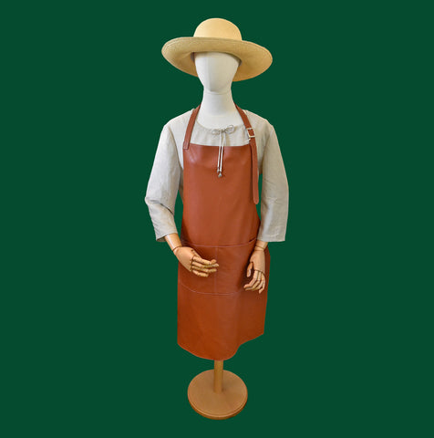 The Wonderful Garden Company Handmade Italian Leather Gardener's Apron