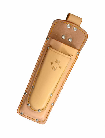 Okatsune Leather Double Holster for Secateurs and Saw With Belt Loop
