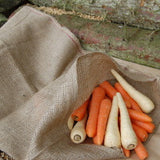 Nutscene hessian sacks with carrots and parsnips