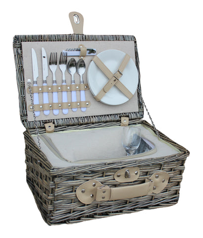 Willow Direct Insulated Wicker Picnic Hamper for 2