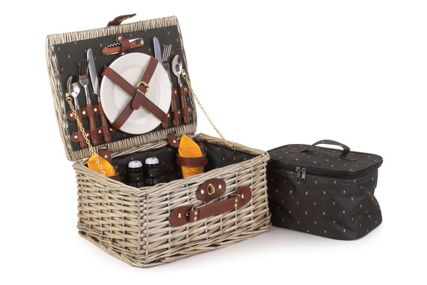 "Wicker ""Nature"" Fitted Picnic Basket For Two"