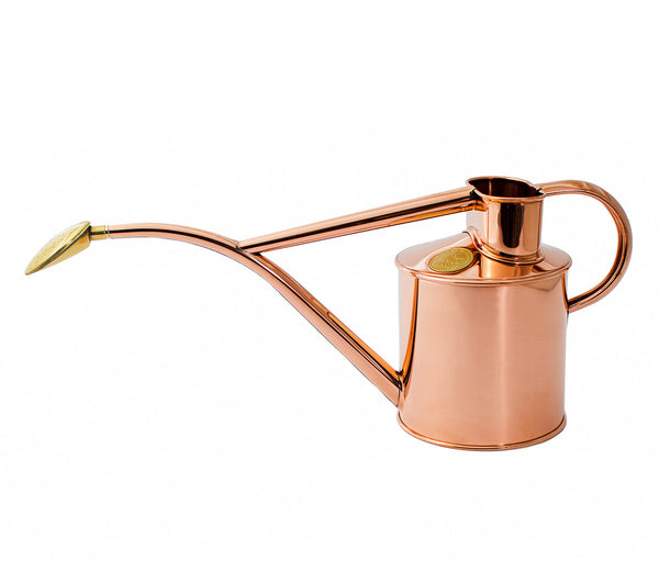 Long spouted copper watering can